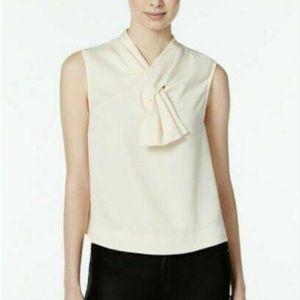 Rachel Rachel Roy Sleeveless Bow Blouse Size S
